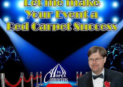 Let me make your event a Red Carpet Success - High Hopes Communications mini
