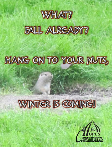 What? Fall already? Hang on to your nuts,  Winter is coming!