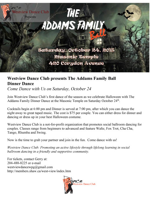 Westview Dance Club presents The Addams Family Ball