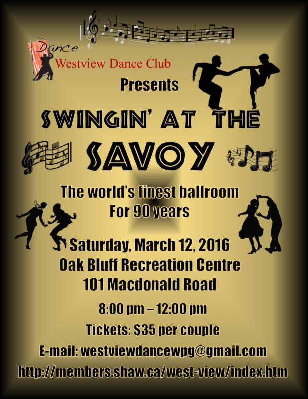 Westview Dance Club Presents Swingin' at the Savoy