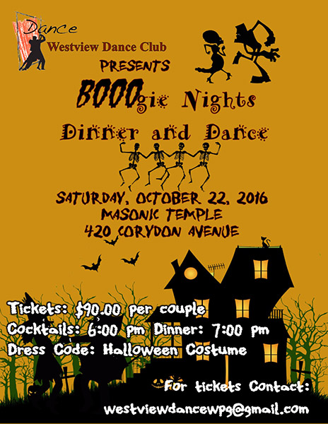 Westview Dance Club presents BOOOgie Nights Dinner and Dance