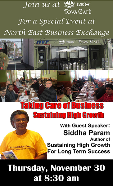 Special Event at the North East Business Exchange Nov 30, 2017 web
