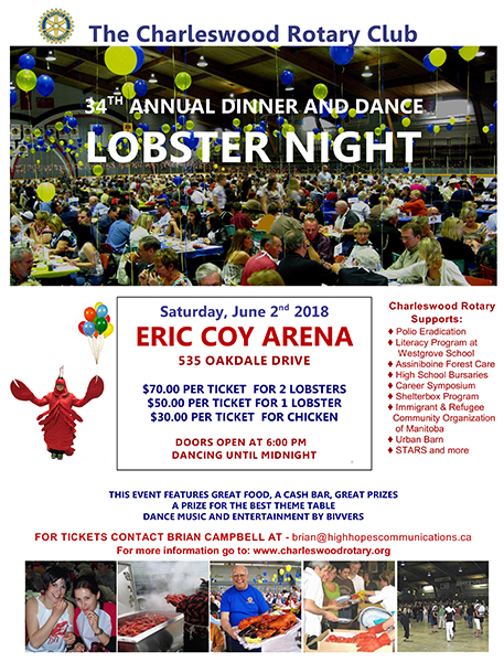 Rotary Club of Winnipeg-Charleswood Annual Lobster Night