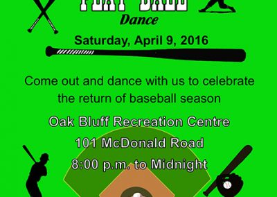 Play Ball Dance Poster