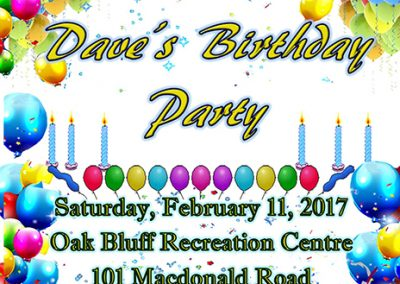 Westview Dance Club Daves Birthday Party Poster mini