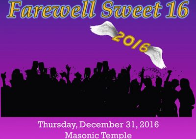 Westview Dance Club New Years Eve Farewell Sweet 16 Poster mini