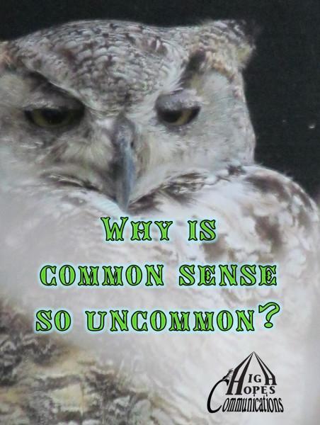 Why is Common Sense So Uncommon?