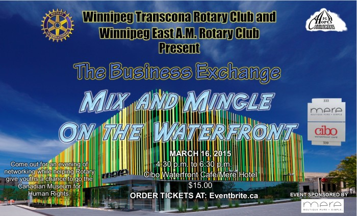 Mix and Mingle on the Waterfront Poster