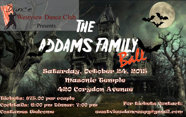 Get your tickets soon for Westview Dance Club's  The Addams Family Ball
