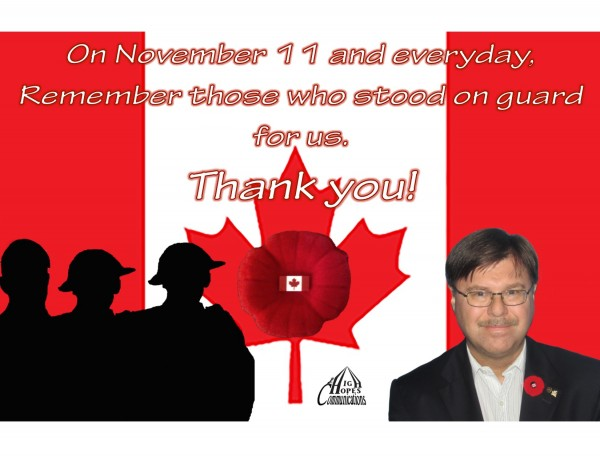 On November 11 and everyday, Remember those who stood on guard for us. Thank you!