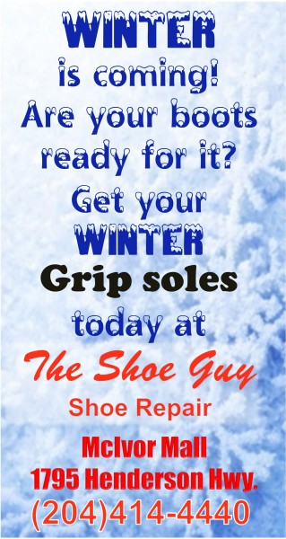Get your Winter Grip soles today at The Shoe Guy