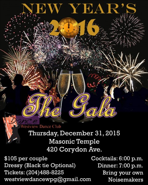 Westview Dance Club presents New Year's Eve The Gala Dinner and Dancing