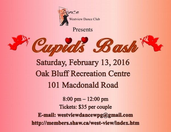 Westview Dance Club presents Cupid's Bash, Saturday, February 13