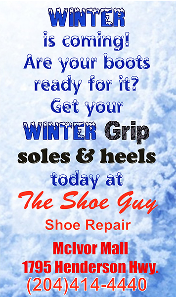 Get your Winter Grip soles and heels today at The Shoe Guy
