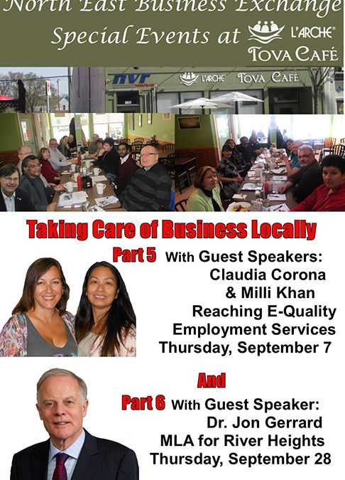 Join us for two upcoming  North East Business Exchange  Special Events at  L'Arche Tova Café