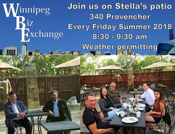 Winnipeg Biz Exchange Join us on Stella's patio